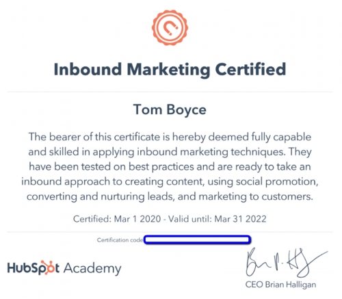Hubspot_Inbound_Marketing_Certificate